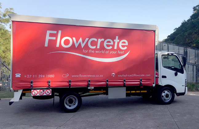 Flowcrete South Africa's New Four-Ton Truck