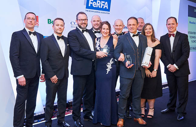 Large Wins for Flowcrete UK at the FeRFA Awards 2018