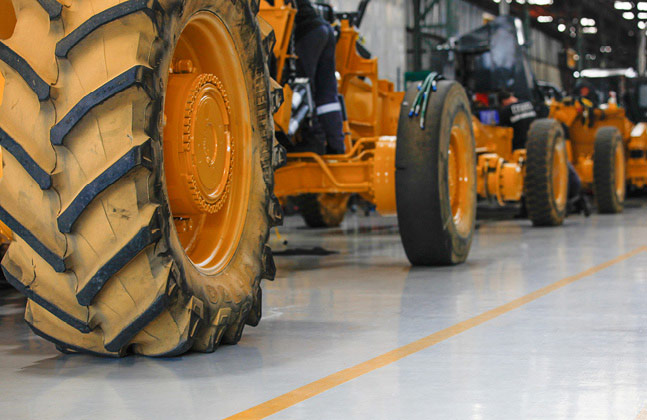 Flowcrete South Africa provide flooring solutions for Bell Equipment Global's large-scale manufacturing facility