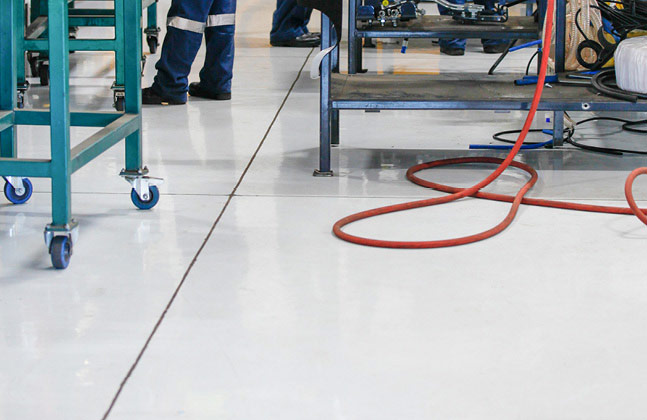 The flooring was not only important from a health and safety view point, but it also needed to be aesthetically pleasing so that clients could be shown around the plant on a regular basis.
