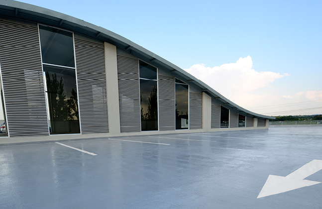 Deckshield ED system was used to coat all external parking bays.